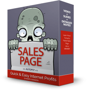 Sales Page Autopsy by Shawn Hansen